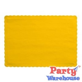 School Bus Yellow Placemats