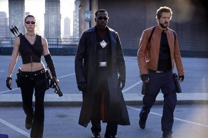 Jessica Biel, Wesley Snipes y Ryan Reynolds en Blade: Trinity