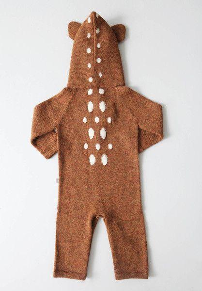 oeuf ny Animal Jumper bambi wollanzug für babies wool