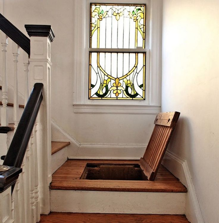 A secret storage in a staircase can be a great hidden storage for bulky  things that