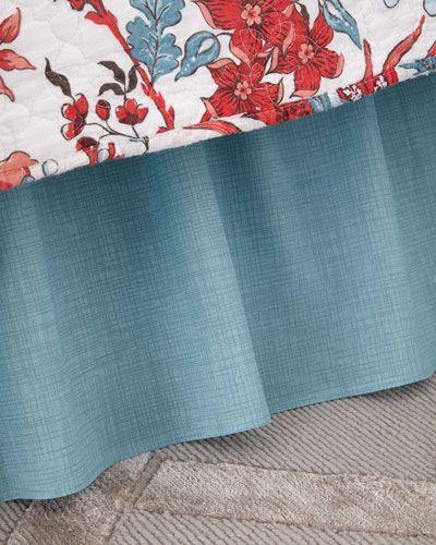 Aegean Grid Bed Skirt, Queen