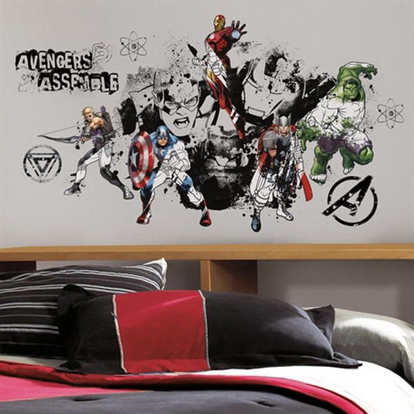 Boys Room Decorating Ideas With The Avengers Wall Decals Part 65