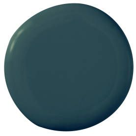 "Benjamin Moore Ultra Spec 500 Oasis Blue 2049-40 ""In a small room, my instinct is always to go jewellike. This dark peacock blue is one of m..."
