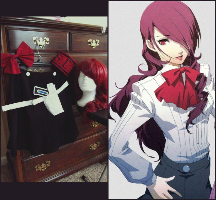 Mitsuru Kirijo P3 Persona 3 Cosplay Costume Wig EVOKER Anime Video Game Used