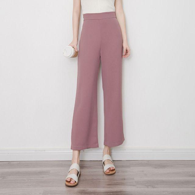 2017 Retro Women Purple Color Loose Pants Elastic Hight Waist  Ladies Casual Streetwear Ankle-length Trousers Pantalones Mujer