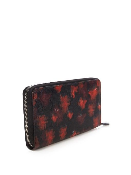 Givenchy Floral-print zip-around wallet