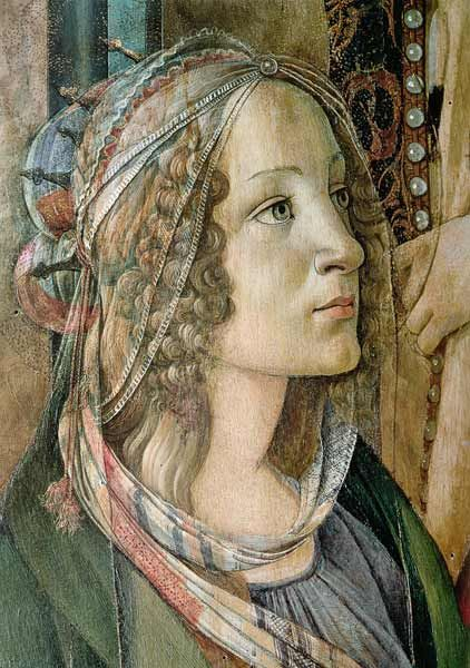 Sandro Botticelli - Detail of St. Catherine from the Altarpiece of San Barnaba