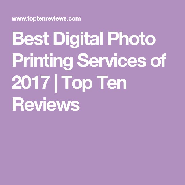 Best Digital Photo Printing Services of 2017 | Top Ten Reviews