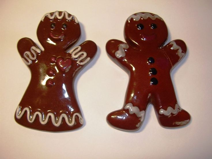 Vintage Antique HULL Pottery Assn Brown Drip Gingerbread Man Woman Christmas Toy & 294 best Brown Drip Dishes images on Pinterest | Hull pottery ...