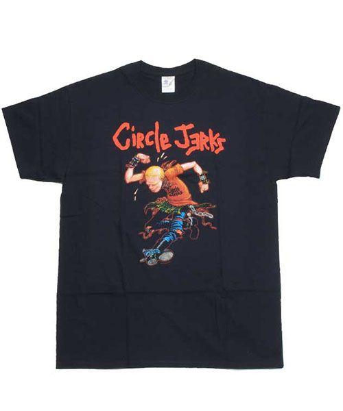 バンドTシャツ-バンド名/CIRCLE JERKS(サークル・ジャークス)-プリントデザイン/SKANK MAN-販売価格/3000-カラー/BLK-状態(新品 北米オフィシャル商品)