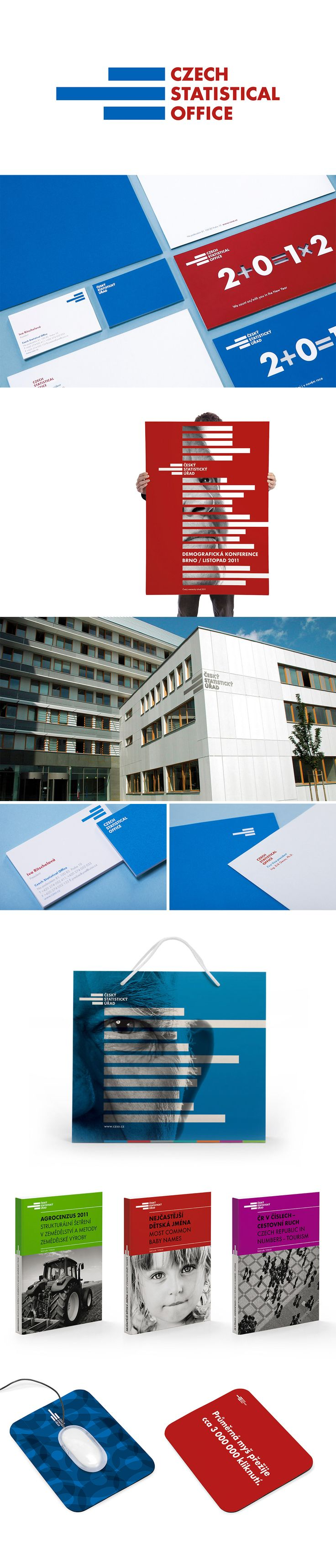 Czech Statistical Office Corporate Identity | Designed by Jiri Toman | Toman Design