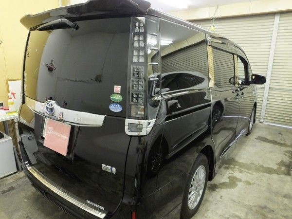 トヨタ ノア 99%UVカット ルミクールSD 透過率15% カーフィルム 施工
