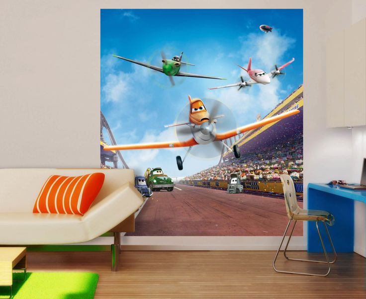 disney planes wall mural by wallandmore great for children room itus time to turn