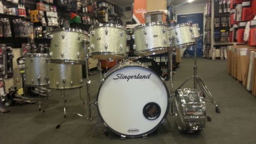 Slingerland+Early-Mid+70's+Silver+Sparkle+TEN+10+Piece+Drum+Set