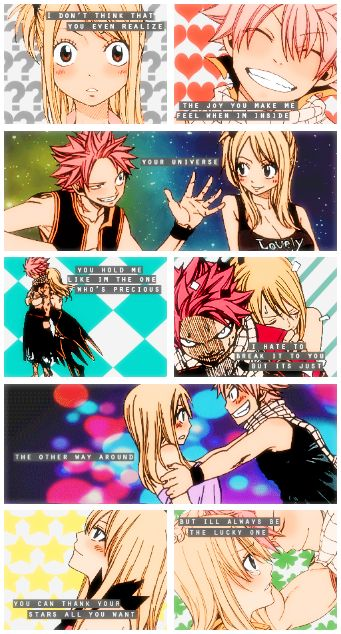 Lucy and Natsu <3 <3 <3 <3 <3 <3 <3 <3 <3 <3 <3