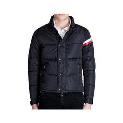 France Moncler Down Dark Blue Jacket Men Sale