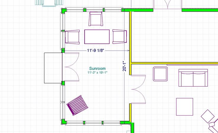 One room home addition plans our rising phoenix sunroom for Room addition blueprints