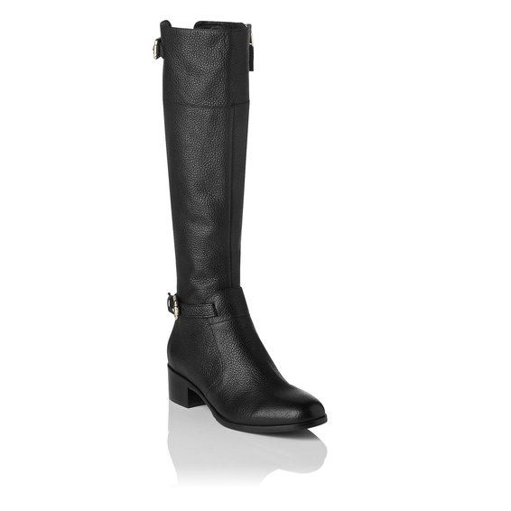 Carole Grained Leather Knee High Riding Boot