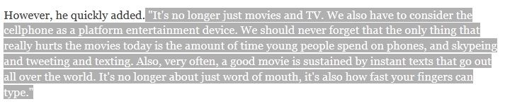 Spielberg on Mobile Culture