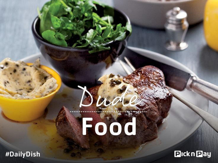 This Fathers Day, turn your home into a bistro with this rustic steak with three pepper butter! ❤ ❤ #DailyDish #DudeFood