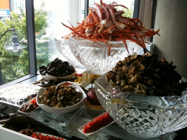 One of Chef @Darren Brown's amazing seafood buffets. This one is located in the Private Dining Room of Oru Restaurant.