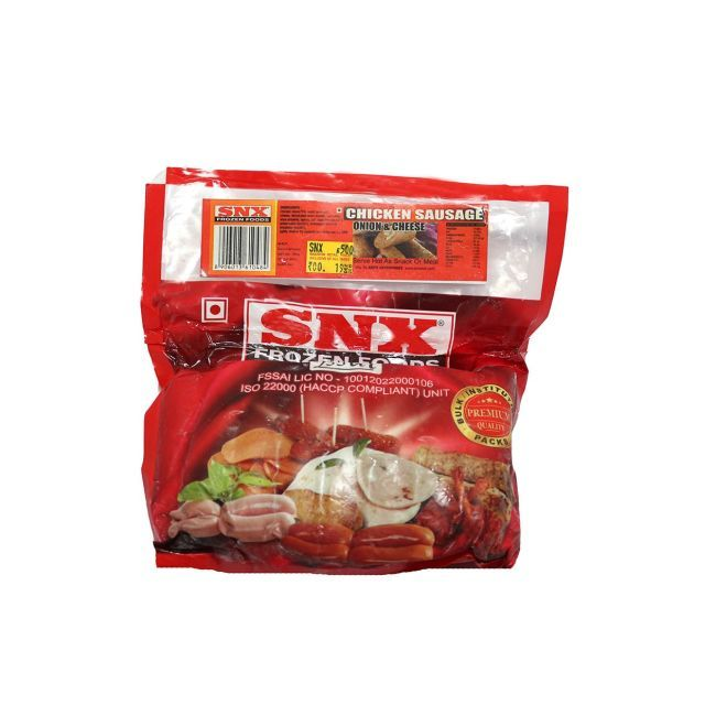 Buy! SNX-Chicken-Cheese-Onion-Sausage-500Gm Rs.250 http://www.newkarnatakahamshop.com/chicken/snx-chicken-cheese-onion-sausage