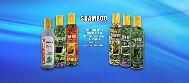 Línea de shampoo Herbacol
