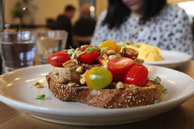 Peanut butter and tomatoes? Yep it works! Check it out at Square & Compass in East Melbourne. Read more about our brunch here http://chasingaplate.com/square-compass/ Image: Thomas Southam