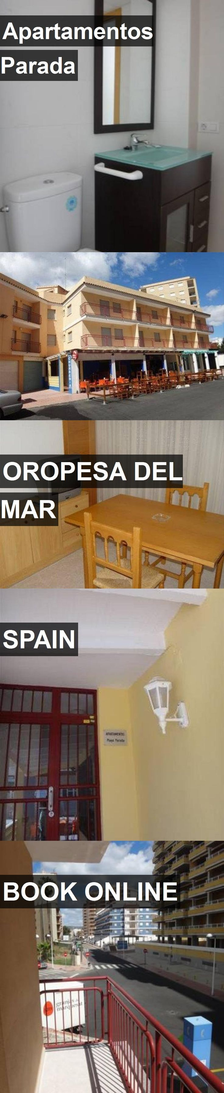 Hotel Apartamentos Parada in Oropesa del Mar, Spain. For more information, photos, reviews and best prices please follow the link. #Spain #OropesadelMar #travel #vacation #hotel