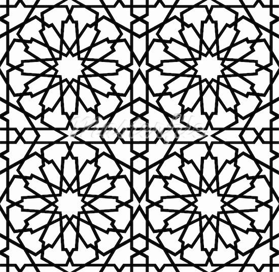 coloring pages islamic patterns drawing - photo#46