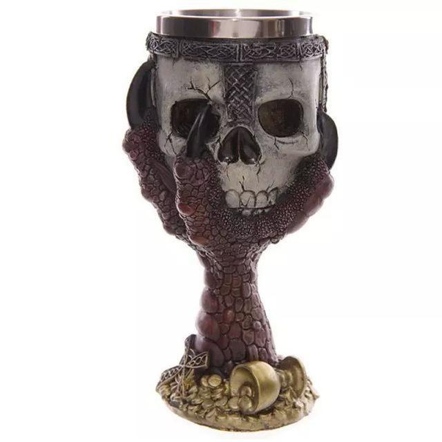 3D Skull Resin Stainless Steel Goblet