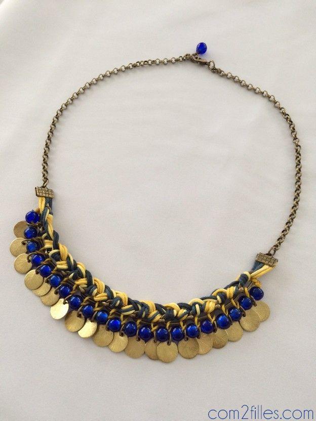 collier plastron de la cabane a perles
