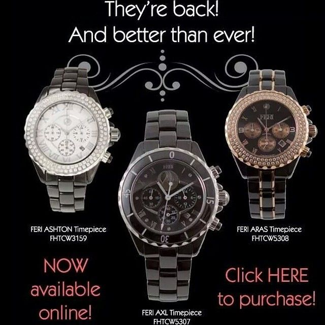 Just some of our amazing FERI watches  www.vipfashion.ca We ship World Wide! #fashion #watches