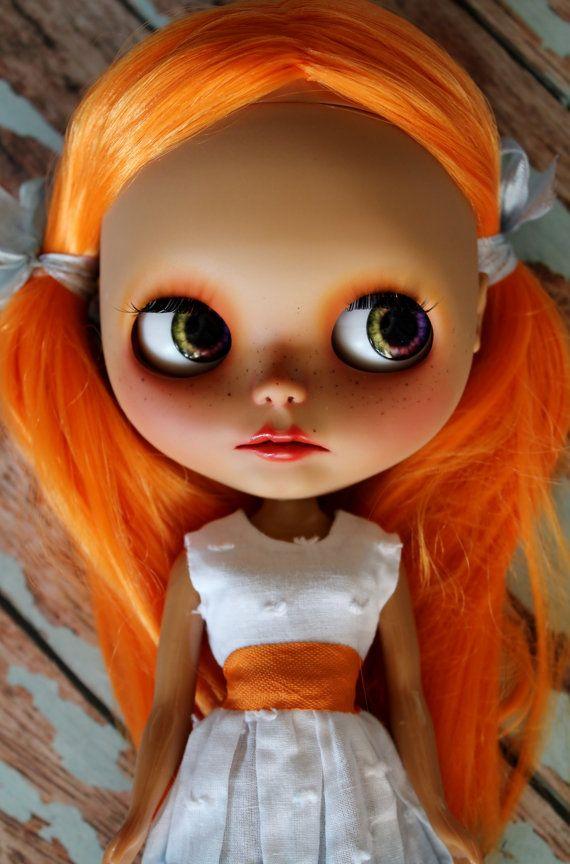 Stella nádherný červené vlasy továrny Blythe doll