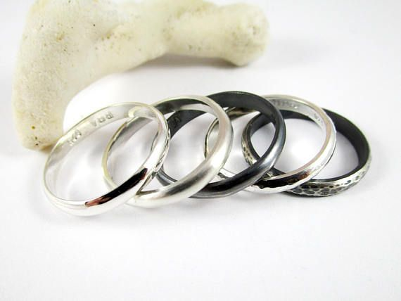Half Round Silver Ring 1 3mm .925 Sterling Silver Unisex