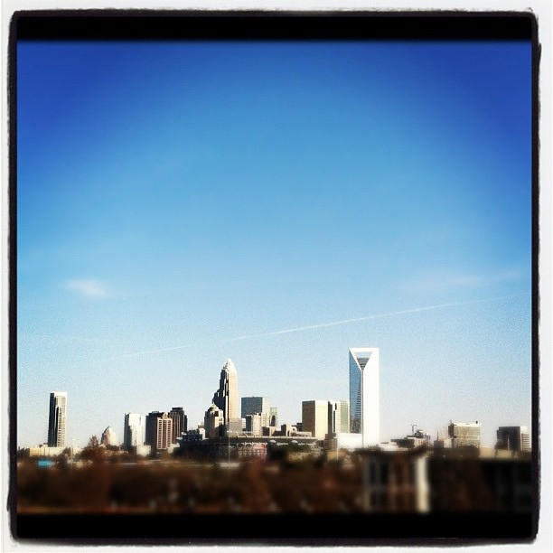 A great view of Uptown Charlotte
