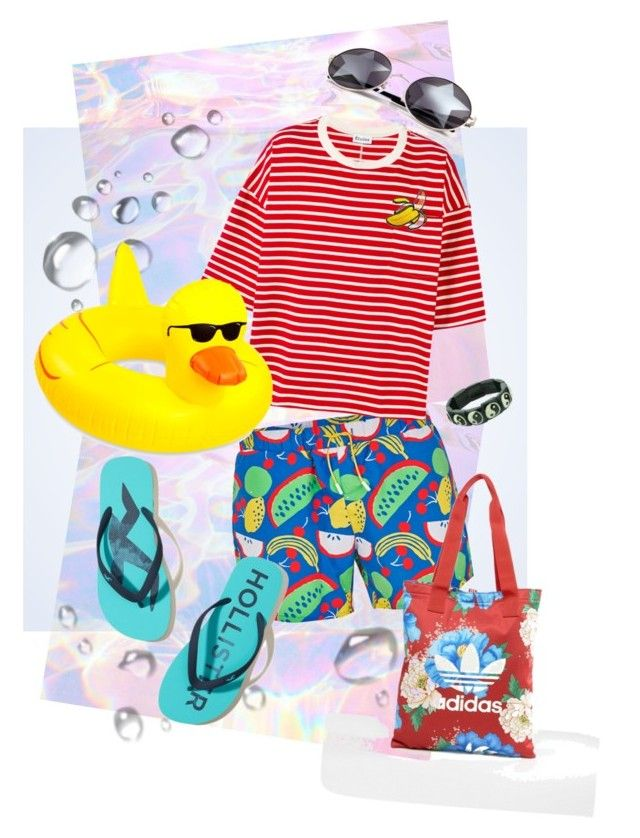 beach by mumachan on Polyvore featuring polyvore, Études, Topman, Hollister Co., Wildfox, adidas, Hot Topic, men's fashion, menswear and clothing
