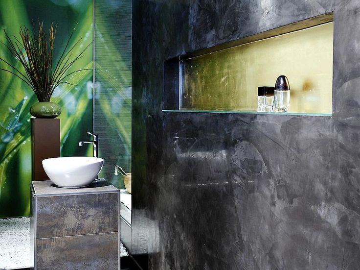 Luxury wand senza Das fugenlose Bad aus Kalk Marmor Putz farbrat