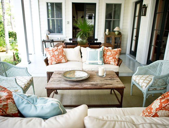 patio: Colors Combos, Idea, Canes Chairs, Outdoor Living, Interiors Design, Patio, Porches, Outdoor Spaces, Sunroom
