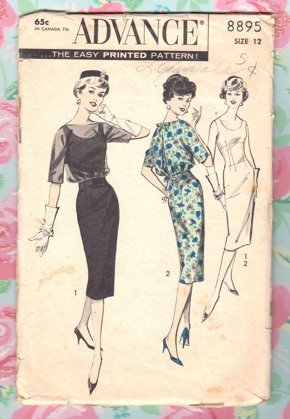 Vintage Sewing Pattern Ladies Cocktail Dress Empire by Mrsdepew, $14.00