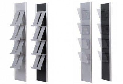 Der Wandprospekthalter A4 SPRING ist nach modernen Gesichtspunkten konstruiert. Lassen Sie sich von diesem eleganten Prospekthalter zu neuen Präsentationstrends inspirieren und verleihen Sie Ihrer Ausstellungsfläche eine ganz individuelle Note.  Der einseitig nutzbare Design Wandprospekthalter A4 SPRING kann in den Farbkombinationen silber/silber oder silber/schwarz geliefert werden. http://www.starexpo.de/prospekthalter/wandprospekthalter/wandprospekthalter-a4-spring/