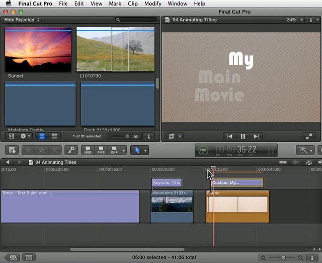 how to animate final cut pro