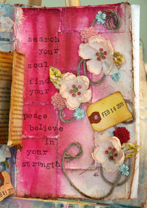 Search your soul.....beautiful collage by Donna Downey.  One of my favs.