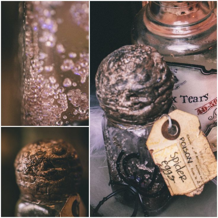 DYI Harry Potter Potions for Halloween Spider Eggs
