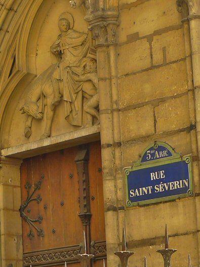 La rue Saint-Séverin  (Paris 5ème)