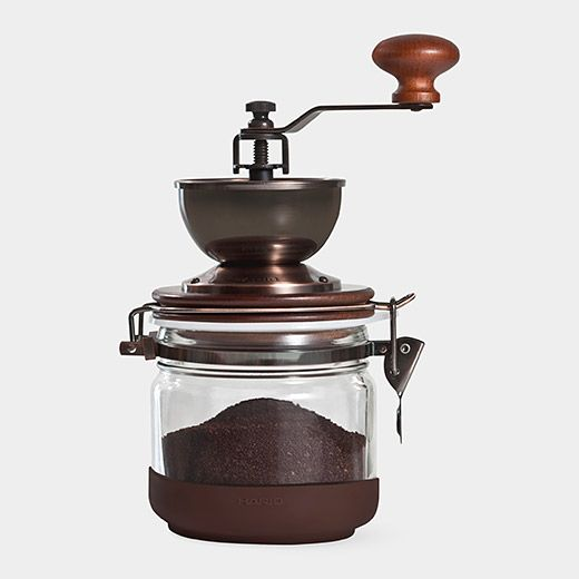 Hario Manual Coffee Grinder | MoMAstore.org--- really cool for a fresh grind
