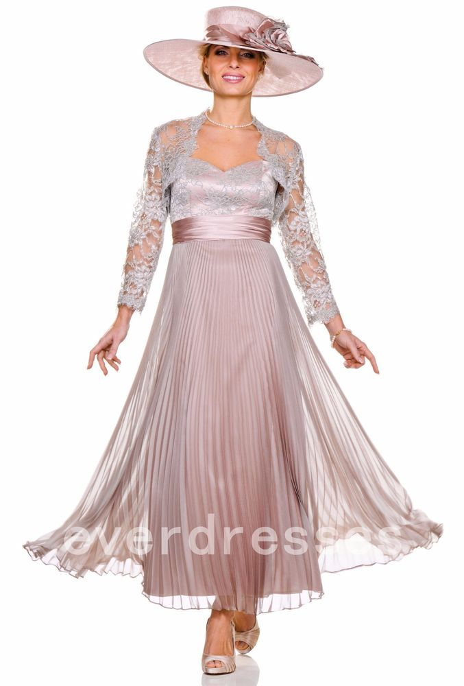 9db59090d74 Ligth Pink Mother of the Bride Dresses Size 4 6 8 12 16 18 20 Plus Tea  Length