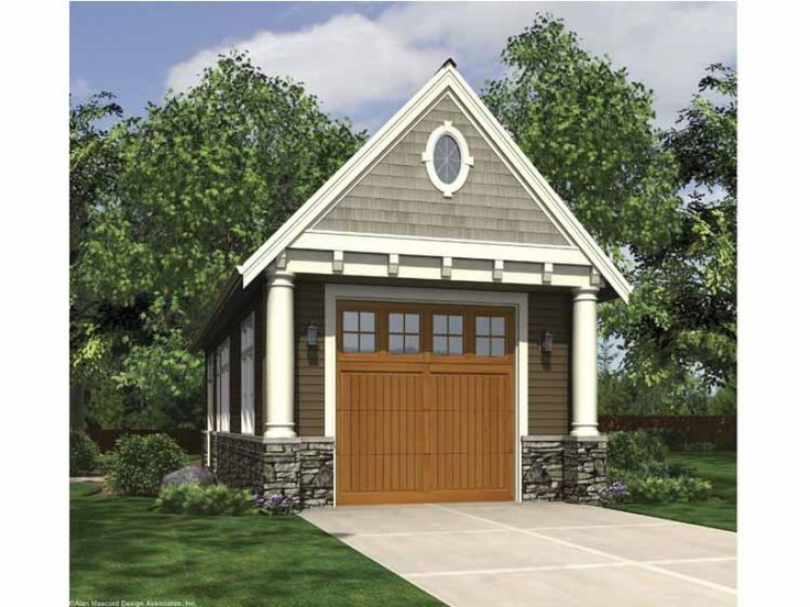 Best One Car Garage Plans Images On Pinterest Garage Plans