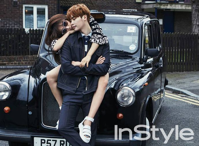 Lee Jong Suk and Park Shin Hye | InStyle Magazine April 2015 Issue