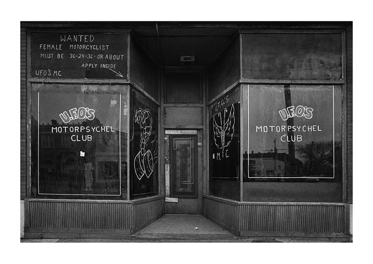 Private Motorcycle Club Entrance, Detroit 1972 | Early Work ...
